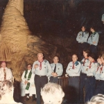 Chief scout of Ireland retires in Mitchelstown Cave 1984.