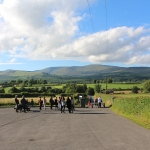 Panoramic view of Galtee Mountains from Mitchelstown Cave.