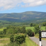 View of Galtee mountains from Mitchelstown Cave entrance.