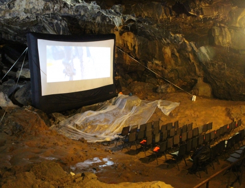 Pop up Cinema in Mitchelstown Cave